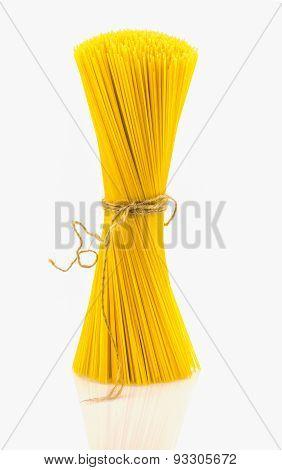 The Spaghettini On White Background.