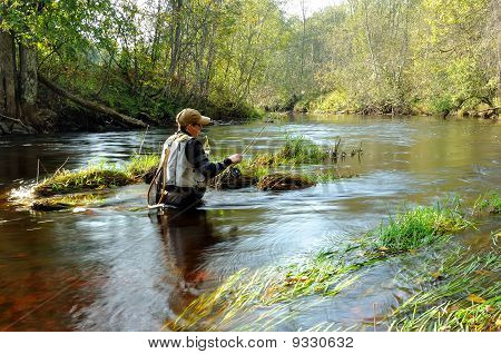 fly-fisher man