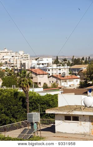 Rooftop Cityscape View Of Larnaca Cyprus Hotels Condos Apartments Offices