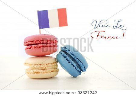Happy Bastille Day Party Macarons