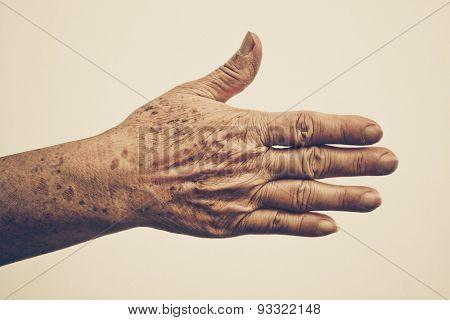 old femal hand