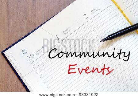 Community Events Concept