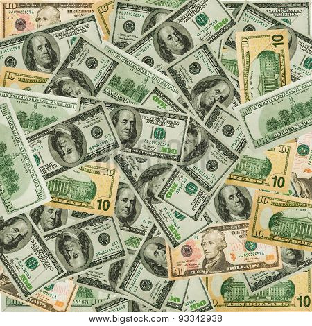 The money dollars background.
