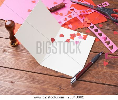Making valentine card