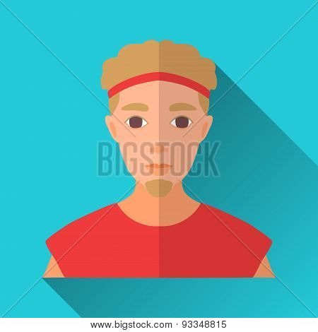 Intelligent Business Woman In Glasses, Square Flat Icon