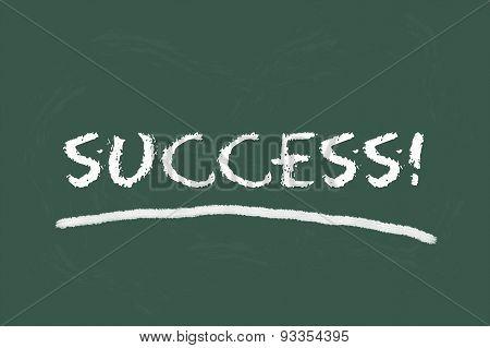Success Script On Green Blackboard