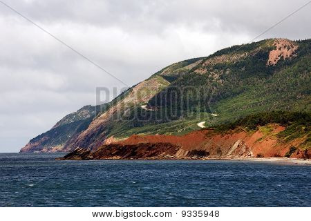 Cabot Trail in Cape Breton Highlands National Park, Nova Scotia poster
