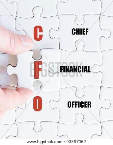 Last Puzzle Piece With Business Acronym Cfo