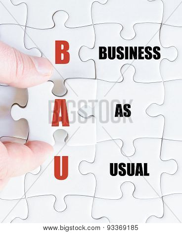 Last Puzzle Piece With Business Acronym Bau