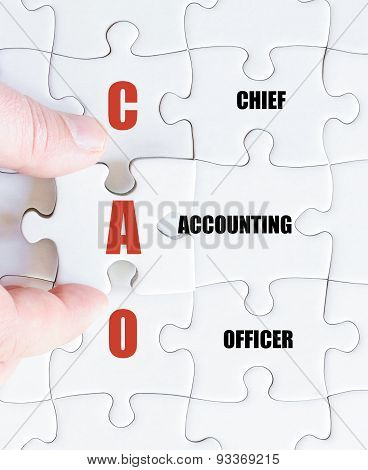 Last Puzzle Piece With Business Acronym Cao