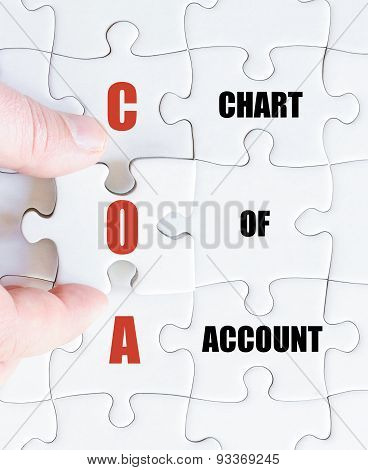 Last Puzzle Piece With Business Acronym Coa