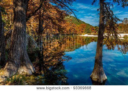 Beautiful Fall Foliage on the Frio River, Texas