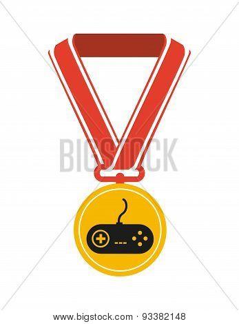 gamer icon design, vector illustration eps10 graphic poster