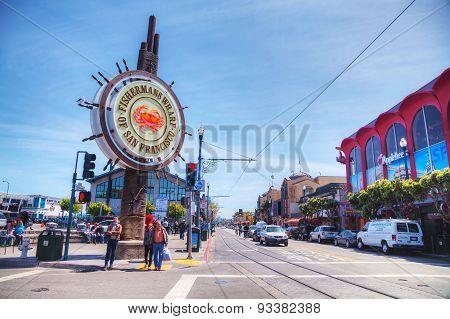Famous Fisherman's Wharf Of San Francisco