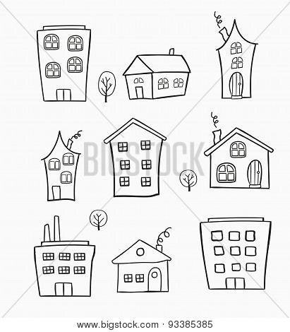 sketches of houses
