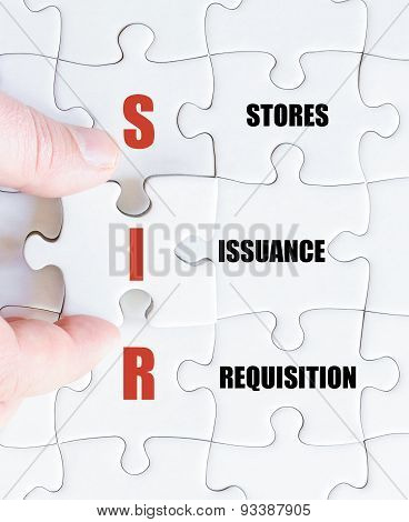 Last Puzzle Piece With Business Acronym Sir