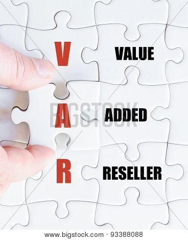 Last Puzzle Piece With Business Acronym Var
