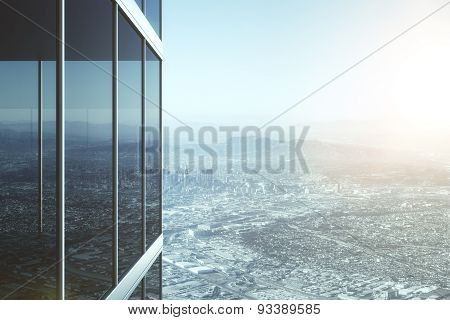 Modern Glass Office Building