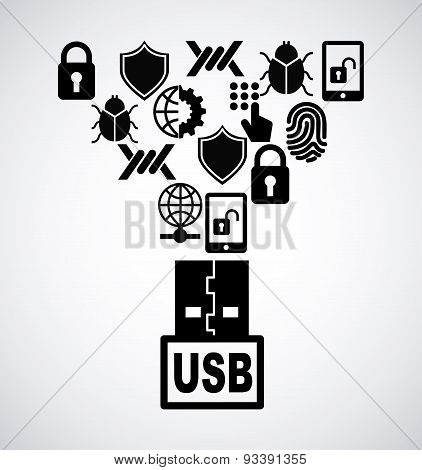 usb icon design