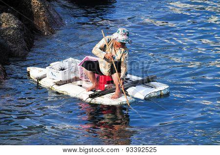 Woman Fishing - Hong Kong