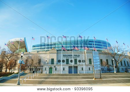 Soldier Field Stadium In Chicago