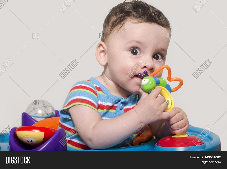cute baby boy sitting image & photo (free trial) | bigstock