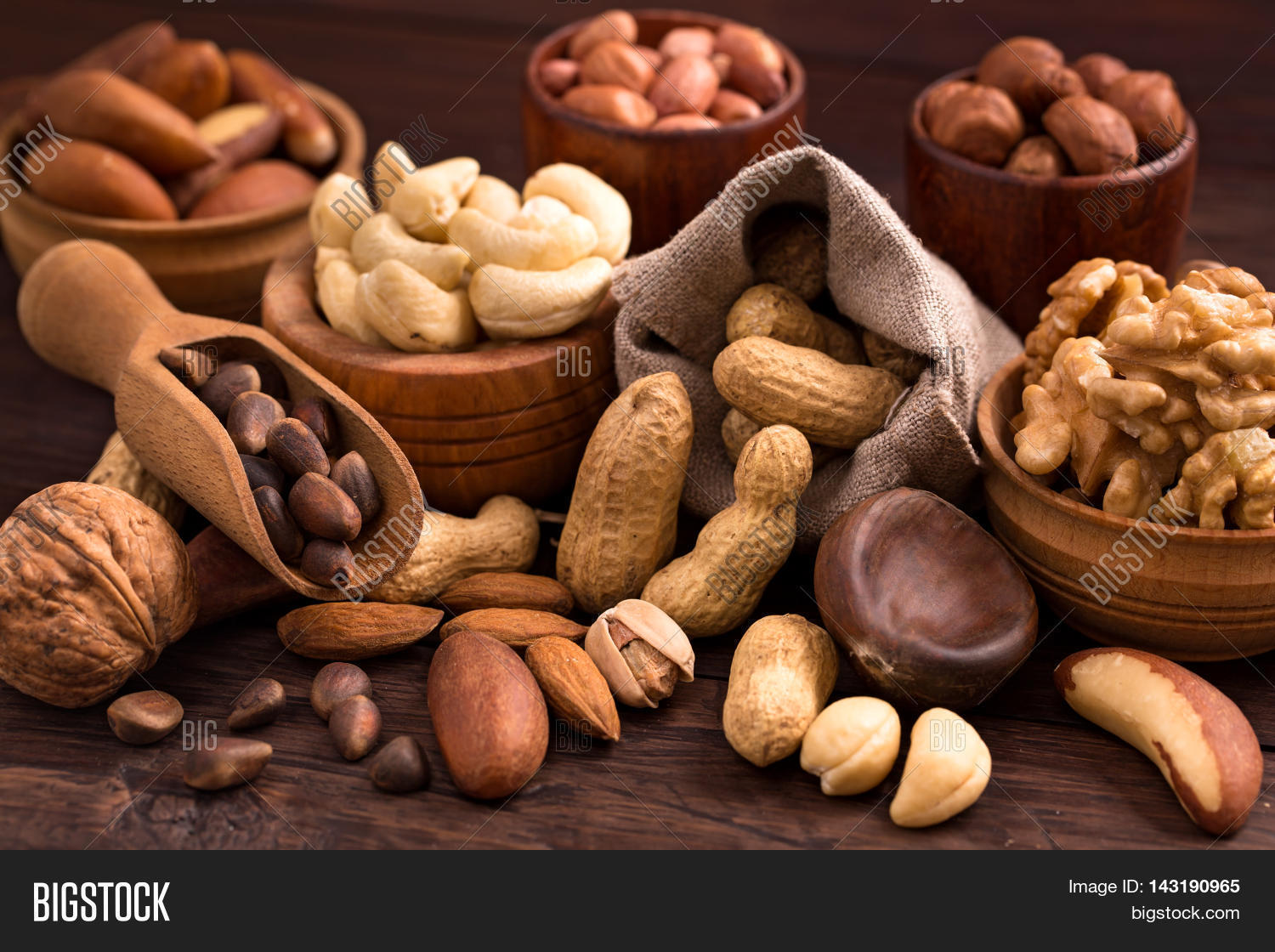 Different Types Nuts  Image & Photo (Free Trial) | Bigstock