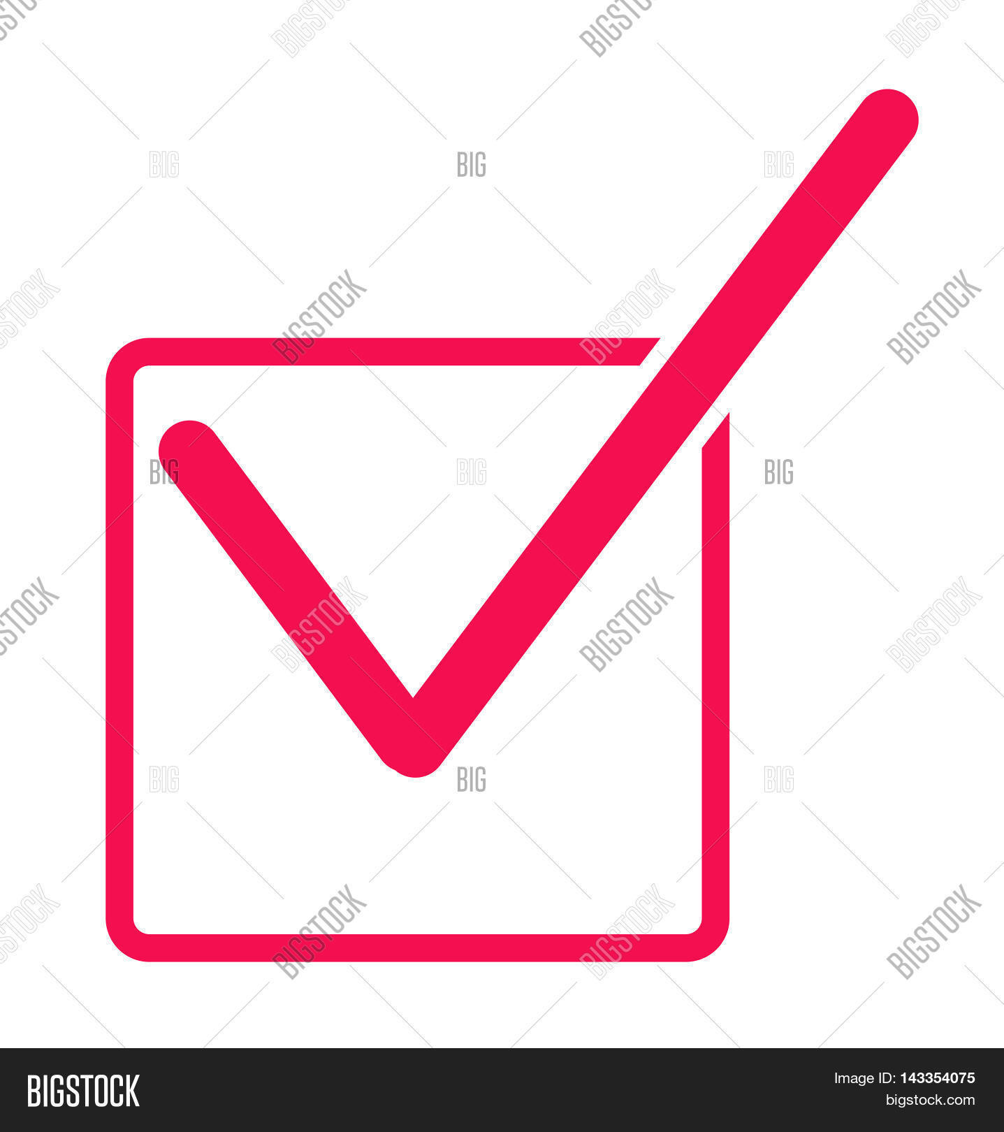 Check Mark Icon Red Image Photo Free Trial Bigstock