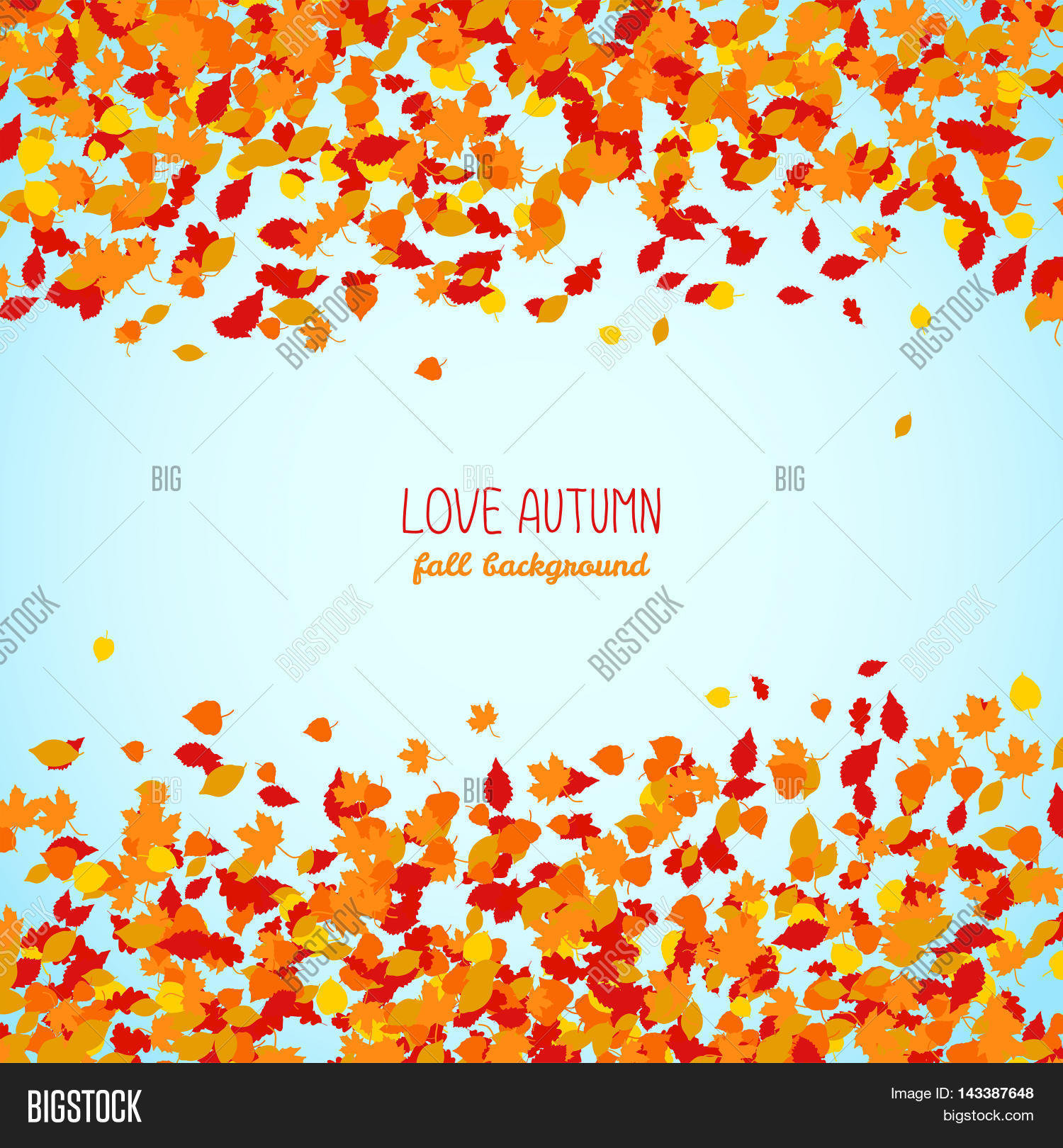 love autumn fall vector photo free trial bigstock