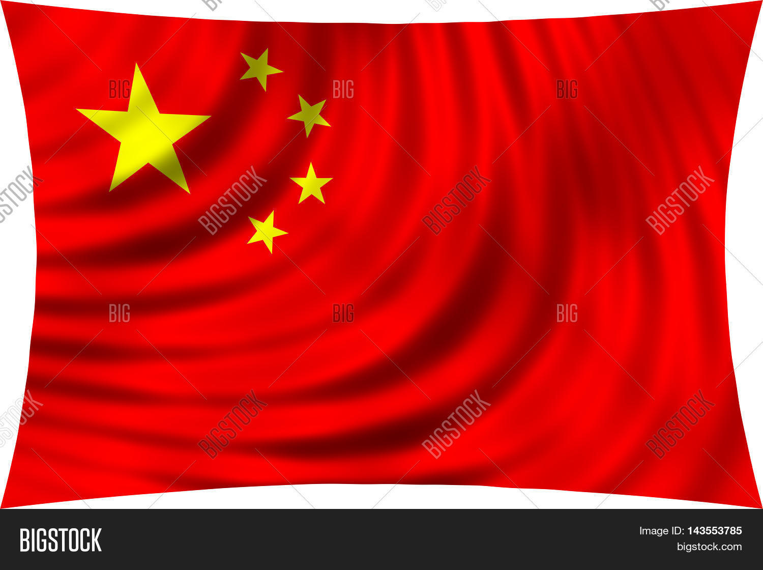 Flag China Waving Wind Image Photo Free Trial Bigstock