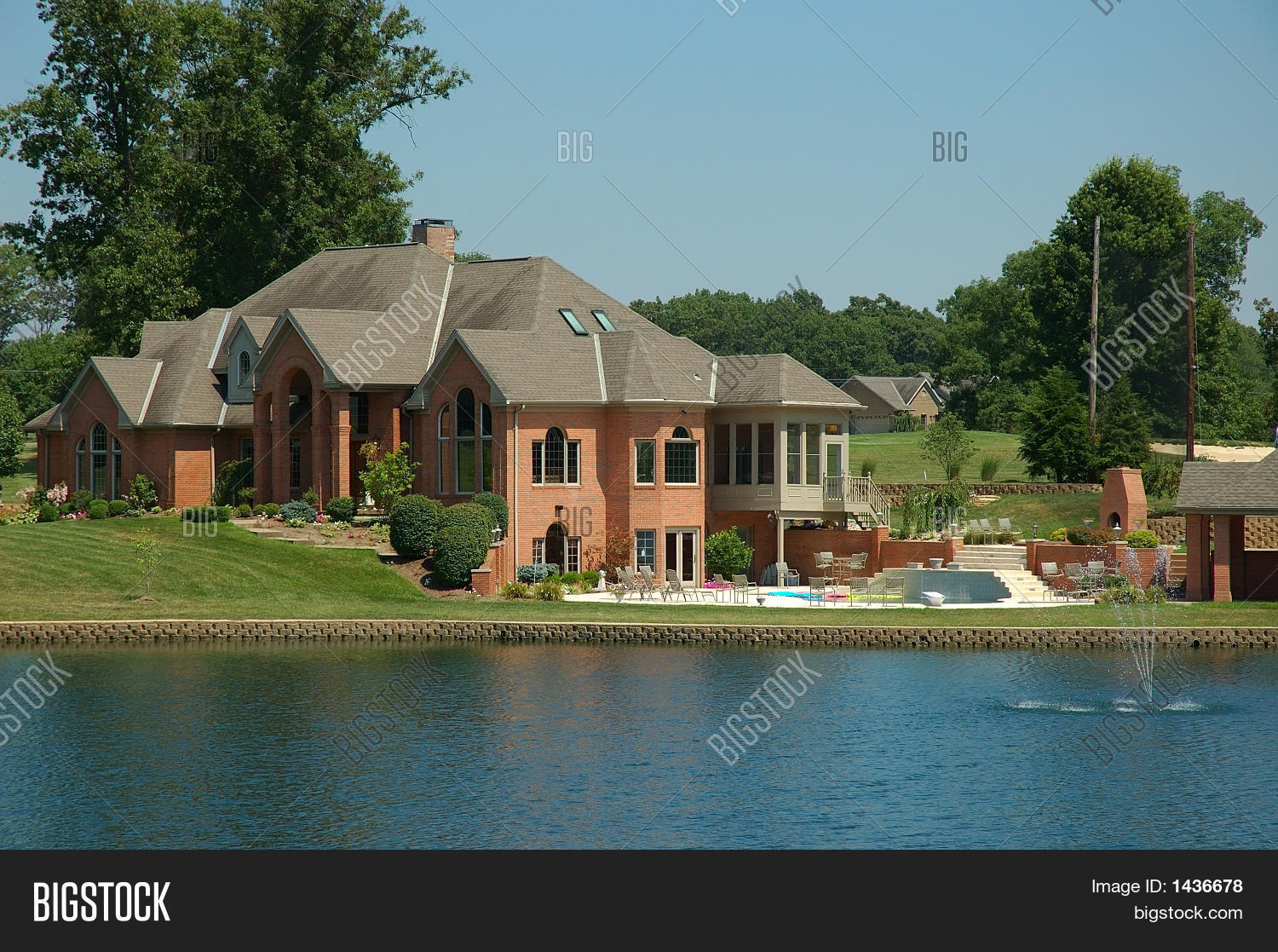 Private lakeside image photo free trial bigstock for Lakeside cabins for sale