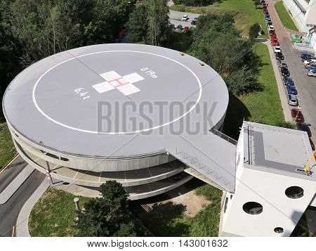 Heliport In the area of municipal hospital