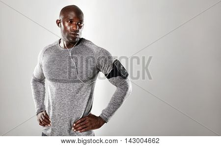 Handsome Young African Man Looking At Copy Space