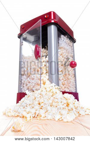 Open Door Popcorn Popper With Food Pouring Out