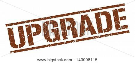 upgrade stamp. brown grunge square isolated sign