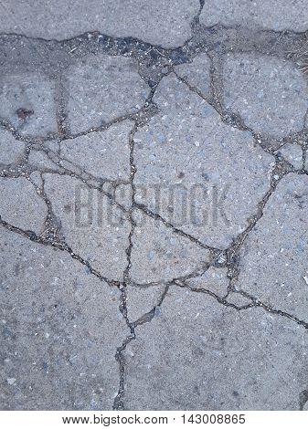 close up dry broken cement floor texture