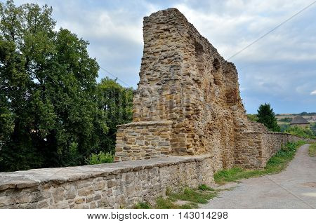 Old medieval fortification in Levoca Town, Slovakia.