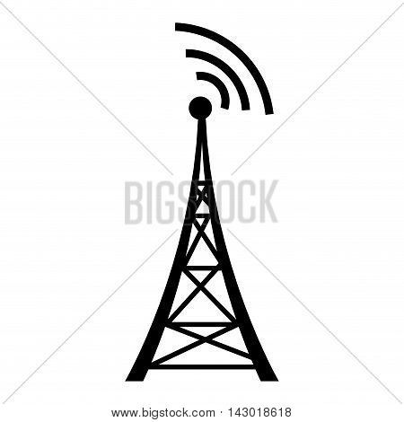 antenna communication station tower transmission wireless vector illustration isolated