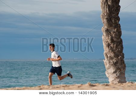 Teenager jogging