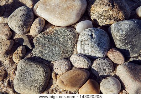 Colourfull Sea stones background for natural desygn