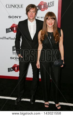 NEW YORK-AUG 3: Singer/songwriter Johnathan Rice (L) and Jenny Lewis attend the 'Ricki And The Flash' New York premiere at AMC Lincoln Square Theater on August 3, 2015 in New York City.