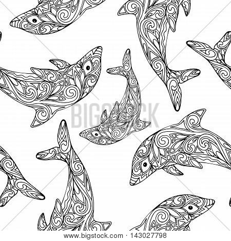 Vector Seamless Dolphin Pattern