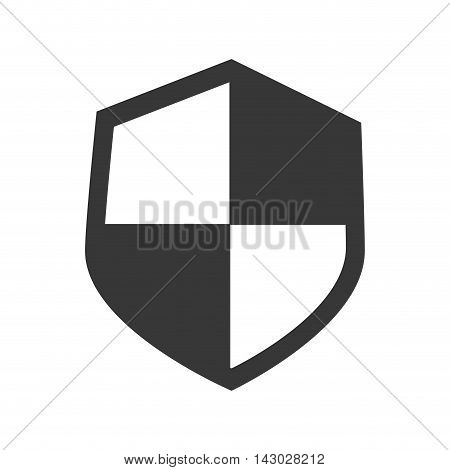 shield defence insignia protection banner honor simplicity vector illustration isolated