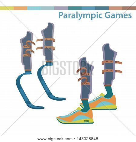 Sporting the lower limbs. International sports competitions for people with disabilities.Summer Paralympic Games. Isolated vector illustration.