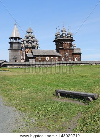 Church of wood material summer day kizhi