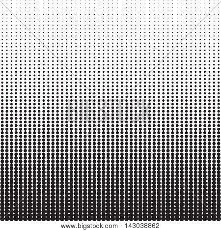 Dots halftone pattern with gradient effect. Vertical points. Vertically directed spots. Template for backgrounds and stylized textures. Design element. Vector illustration in EPS8 format.