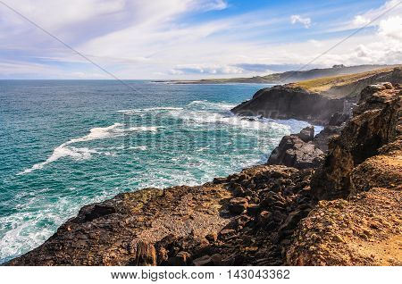 Coastal Landscape Near Slope Point, New Zealand