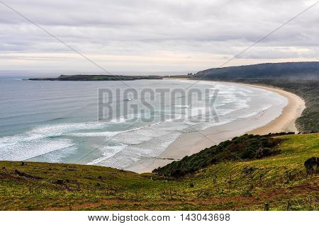 View Of The Beach From Florence Hill, New Zealand