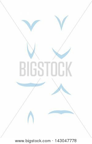 Vector Bird Fly Animation silhouette sequence sprite sheet