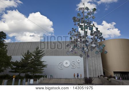 COLUMBUS, OHIO - JULY, 28, 2016:  The Columbus Center of Science and Industry (COSI), first opened in 1964 and has entertained visitors from all 50 states as well as multiple foreign countries.